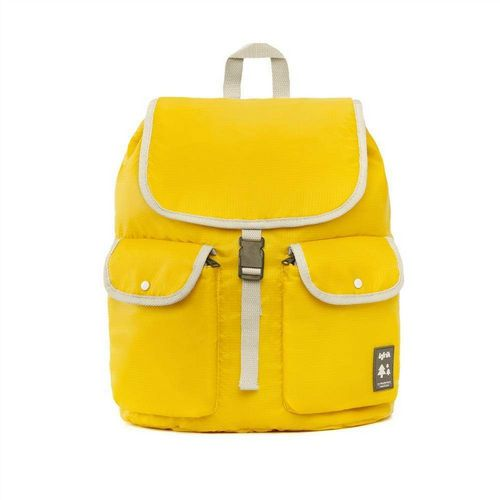 Recycled PET Bottle Rucksack - Knapsack - Yellow